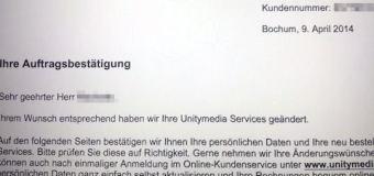 Unitymedia, das Paketupgrade